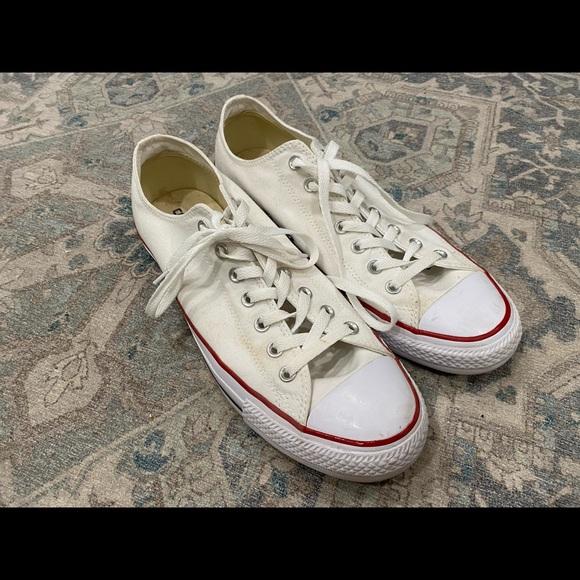 Men's White Allstar Converse Sneakers Size 12